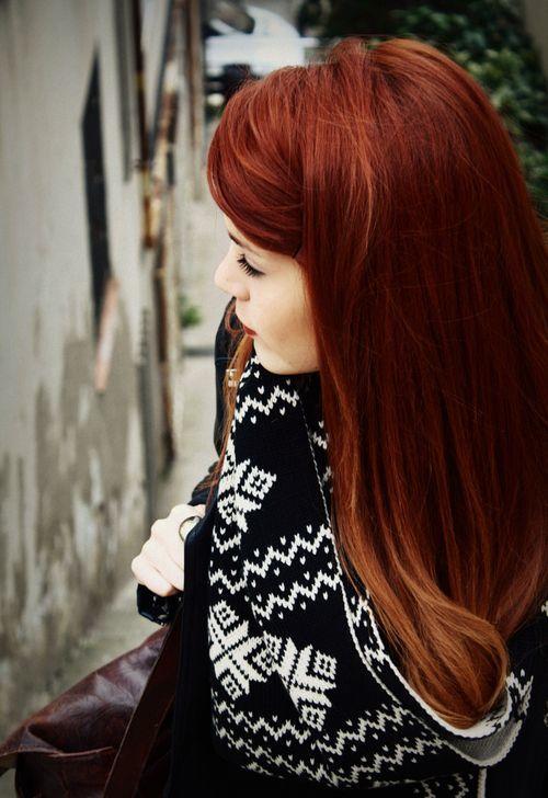 sonbahar'ın vazgeçilmez saç rengi - bakır kızılı- 8