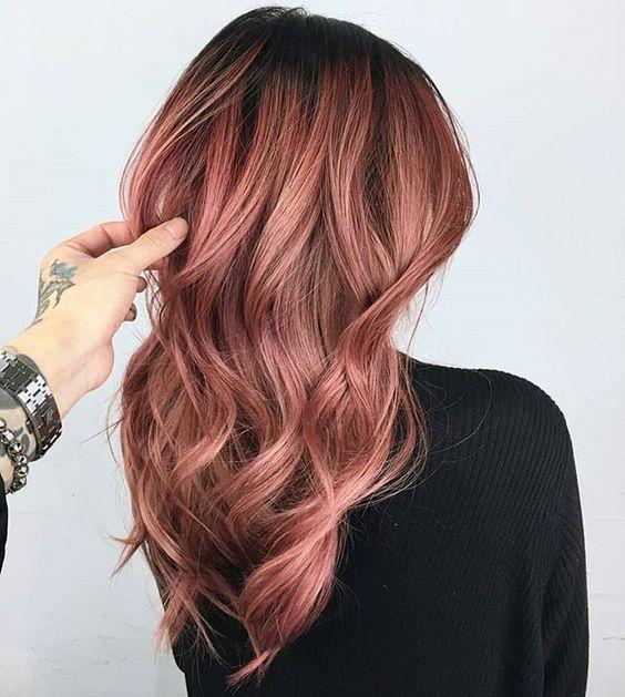 rose gold saç rengi ve modelleri 2