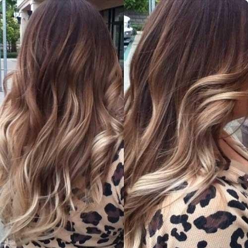 Kumral Saçlar Için Ombre Renkleri
