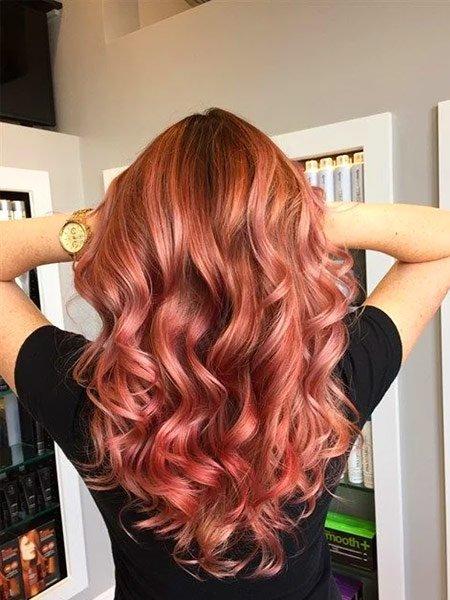 rose gold saç rengi ve modelleri 6