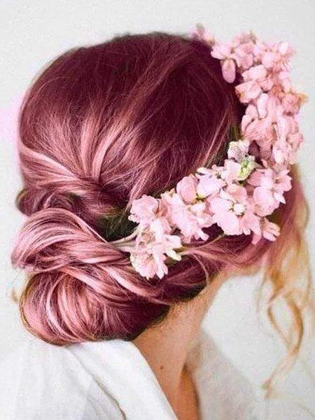 rose gold saç rengi ve modelleri 7