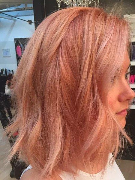 rose gold saç rengi ve modelleri 4