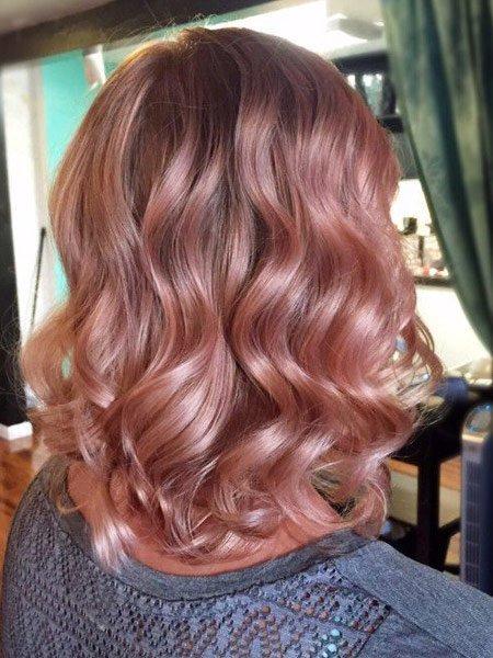 rose gold saç rengi ve modelleri 5