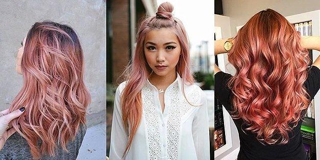 rose gold saç rengi ve modelleri 1