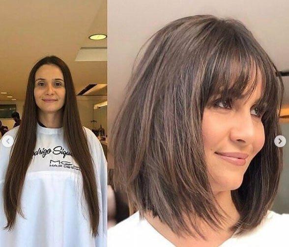 öncesi ve sonrası uzun saç- kısa saç değişimi 1
