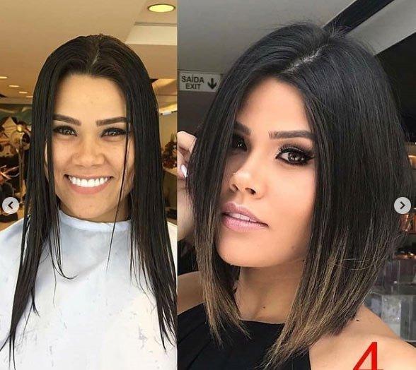 öncesi ve sonrası uzun saç- kısa saç değişimi 3