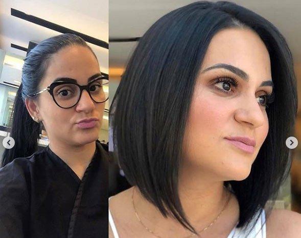 öncesi ve sonrası uzun saç- kısa saç değişimi 6
