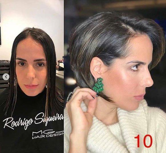 öncesi ve sonrası uzun saç- kısa saç değişimi 9