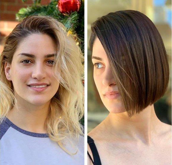 öncesi ve sonrası uzun saç- kısa saç değişimi 10