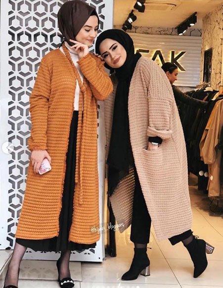 2019 tesettür kış modası 15