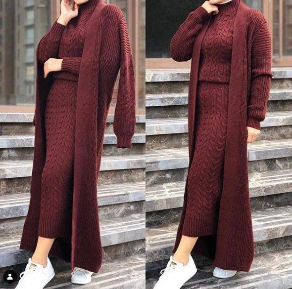 2021 tesettür giyimde kış modası - i̇lham verici 50+ kombin önerisi 32