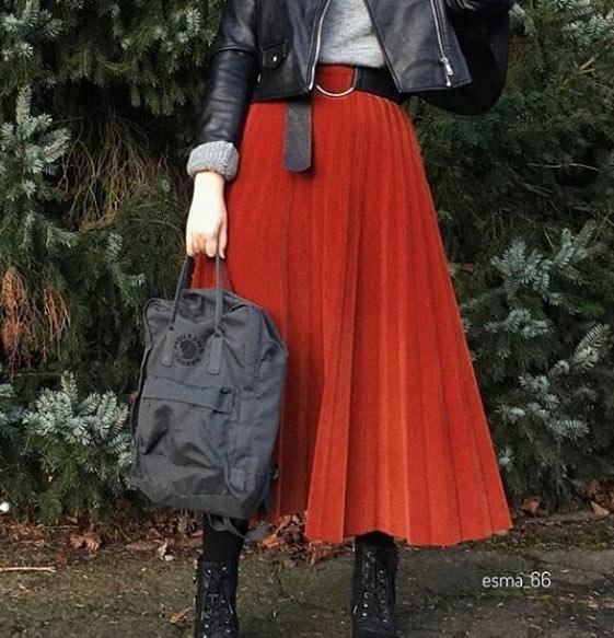 2021 tesettür giyimde kış modası - i̇lham verici 50+ kombin önerisi 35