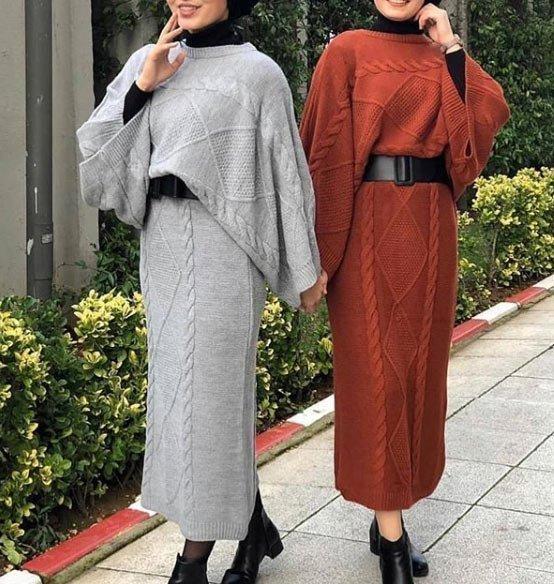 2021 tesettür giyimde kış modası - i̇lham verici 50+ kombin önerisi 36
