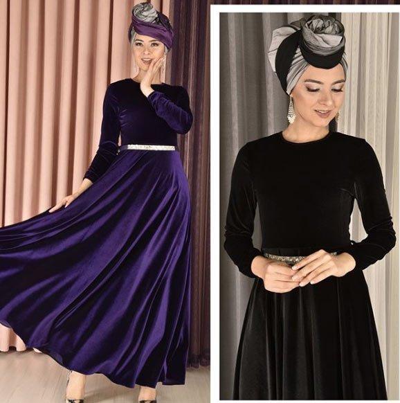 2019 lacivert abiye elbise modelleri 6