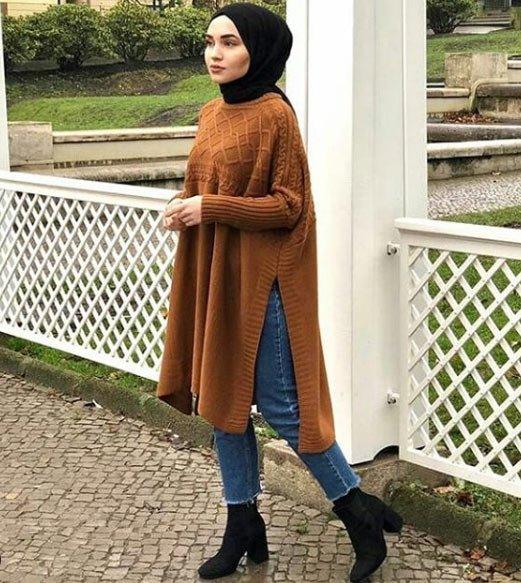 2019 tesettür kış modelleri 13