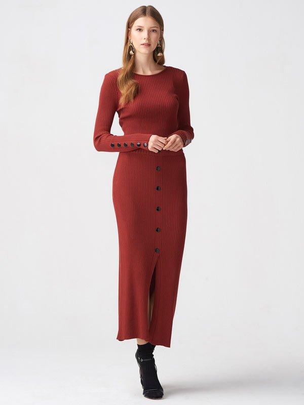 2019 triko elbise modelleri 1