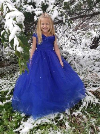 25 adet en güzel  kız çocukları için abiye modeli 3