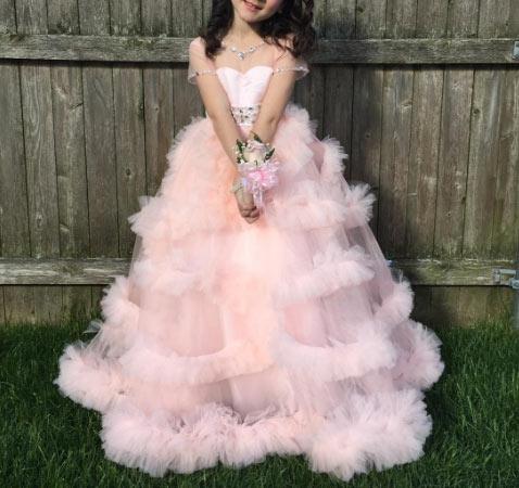 25 adet en güzel  kız çocukları için abiye modeli 1