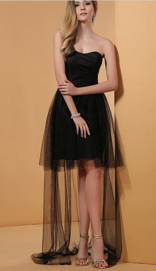 siyah mezuniyet elbise modelleri 1