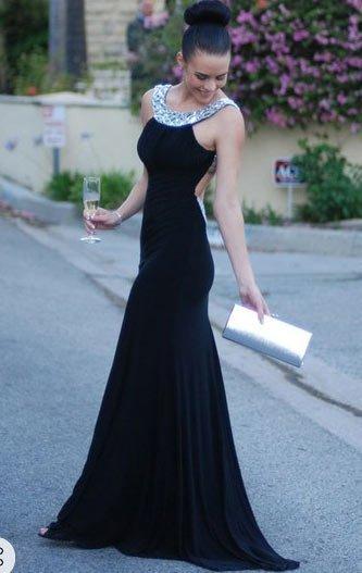 siyah mezuniyet elbise modelleri 2