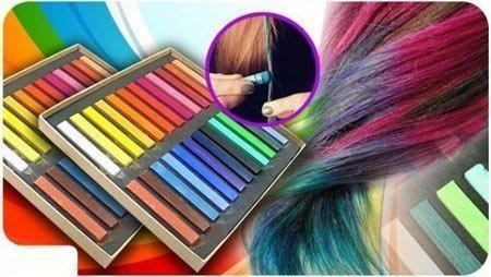 saçların uçlarını pastel boya ile boyatmak-boyamak 3