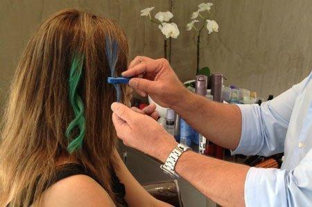 saçların uçlarını pastel boya ile boyatmak-boyamak 4