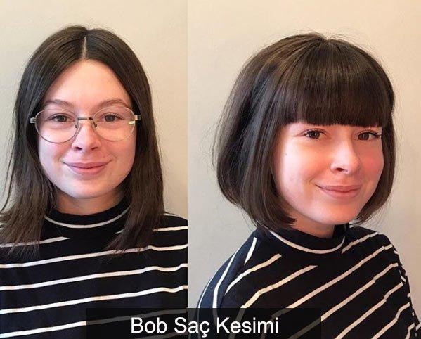 yuvarlak yüzlüleri i̇nce gösteren saç modelleri 3