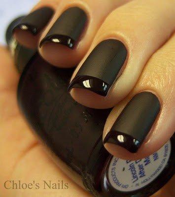 siyah renkli tırnaklar ve oje renkleri 11