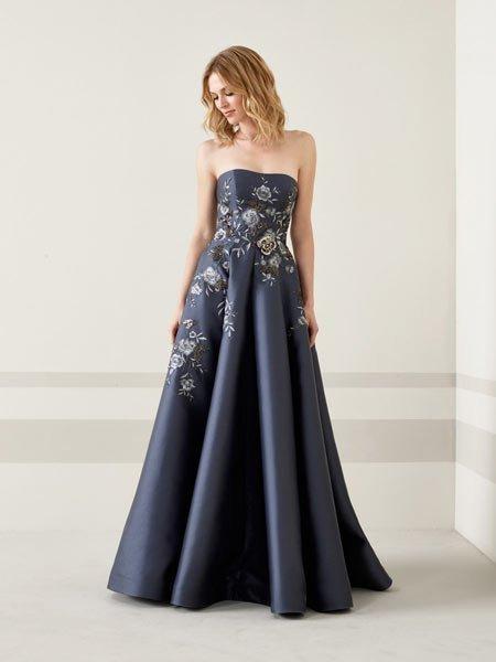 2019 lacivert abiye elbise modelleri 1