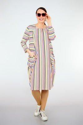 2019 büyük beden elbise modelleri 17