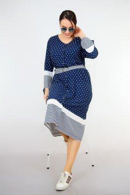 2019 büyük beden elbise modelleri 19