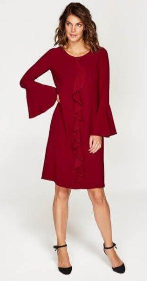 2019 büyük beden elbise modelleri 7