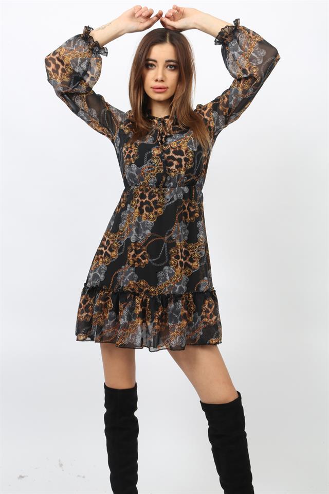 100 en güzel şifon elbise kombinleri ve modelleri 4