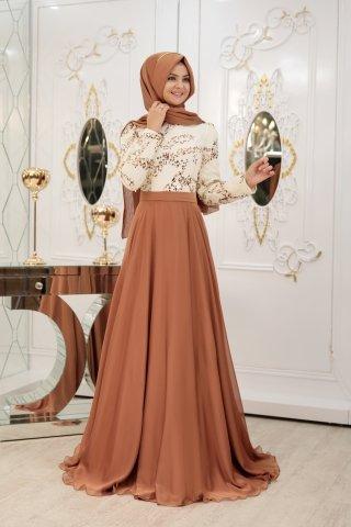 gelmiş geçmiş en güzel 85 tesettür abiye elbise modeli 42