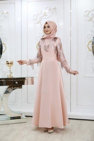 Pınar şems tesettür abiye elbise