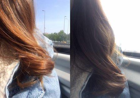 turunculaşan saç rengini kapatmak 2