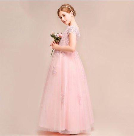 6-10 yaş kız gelinlik ve tül abiye modelleri 2