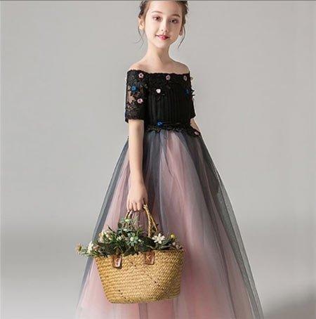 6-10 yaş kız gelinlik ve tül abiye modelleri 3