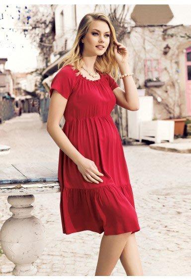 50 adet hamile giyim için en güzel elbise modelleri 3