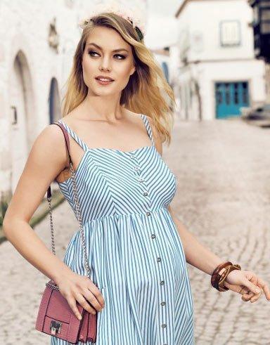 50 adet hamile giyim için en güzel elbise modelleri 4
