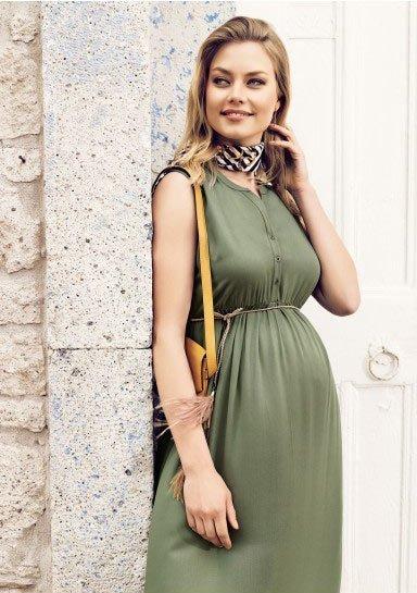 50 adet hamile giyim için en güzel elbise modelleri 5