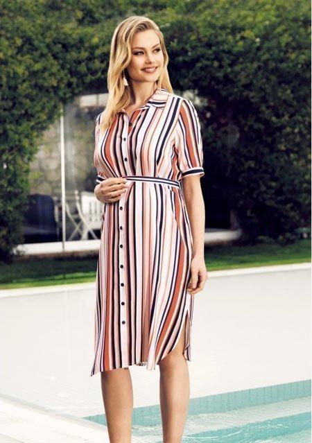 50 adet hamile giyim için en güzel elbise modelleri 8
