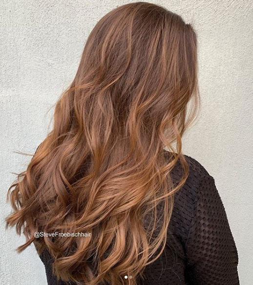 fındık kabuğu saç rengi tonları / boya uygulaması 3