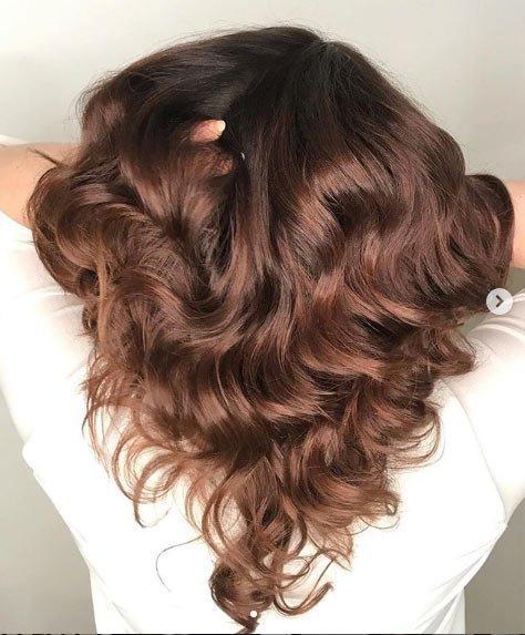 fındık kabuğu saç rengi tonları / boya uygulaması 7