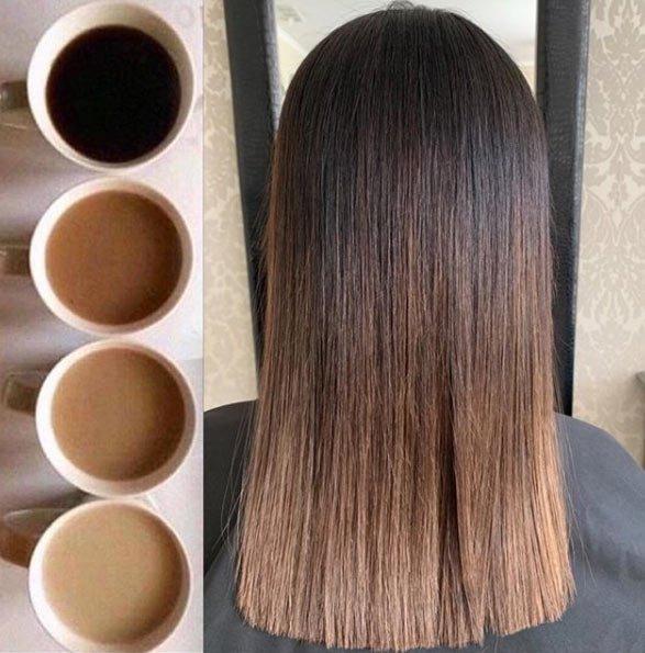 fındık kabuğu saç rengi tonları / boya uygulaması 10
