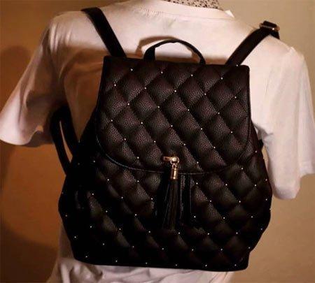 siyah sırt çanta modeli