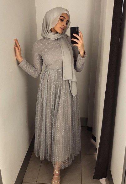 gelmiş geçmiş en güzel 85 tesettür abiye elbise modeli 19