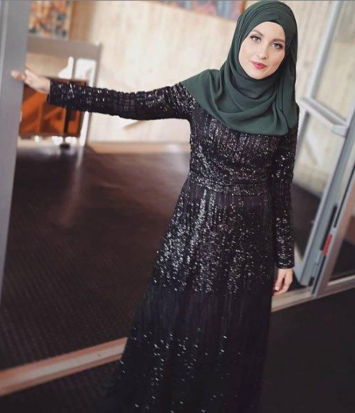 gelmiş geçmiş en güzel 85 tesettür abiye elbise modeli 18