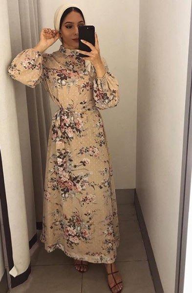 gelmiş geçmiş en güzel 85 tesettür abiye elbise modeli 17