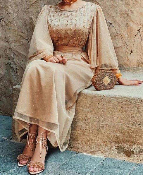 gelmiş geçmiş en güzel 85 tesettür abiye elbise modeli 15
